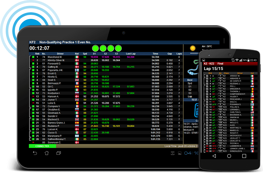 The go-kart and motorsport timing software is leader in the management of national and international karting races.