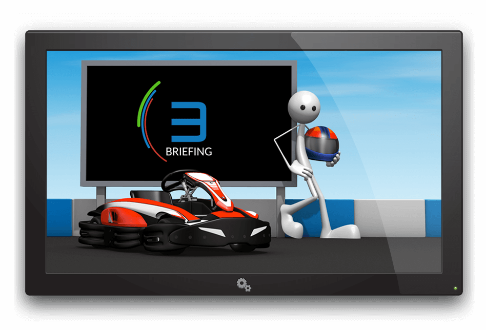 The Apex Timing video breifing is cusomizable and will improve safety of your rental karting tracks. The module is part of the GoKarts software solution for rental karting. Remind drivers safety rules before any go-kart race or session.